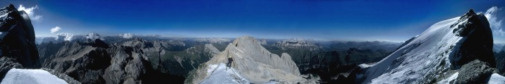 Marmolada Westgrat, Dolomites, Italy - Panorama