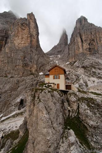 Vajolet Alpine Hut, Dolomites, Italy