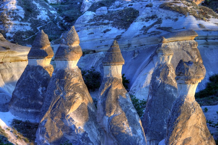 Landscape between Cavusin and Zelve, Cappadocia, Turkey