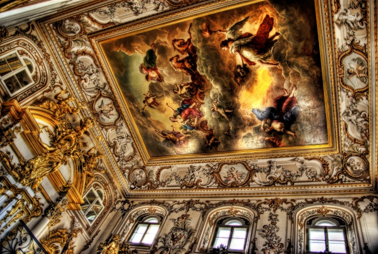 Ceiling of Peterhof, St. Petersburg, Russia