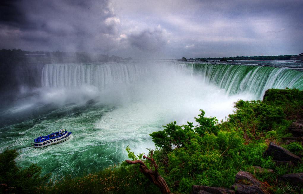 Niagara Falls Ontario Canada And New York Usa