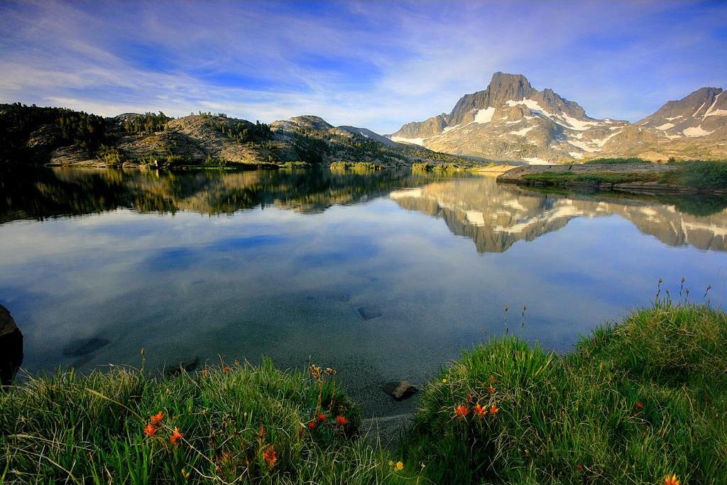 Banner Peak And Thousand Island Lake Ansel Adams Wilderness Sierra Nevada California