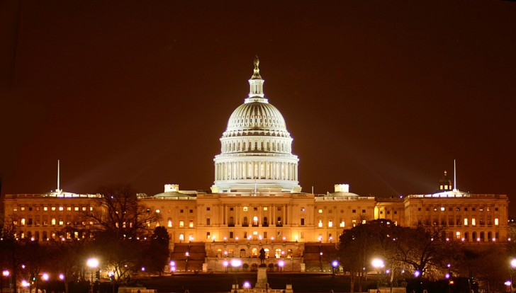Capitol Building at night, Washington DC, United States